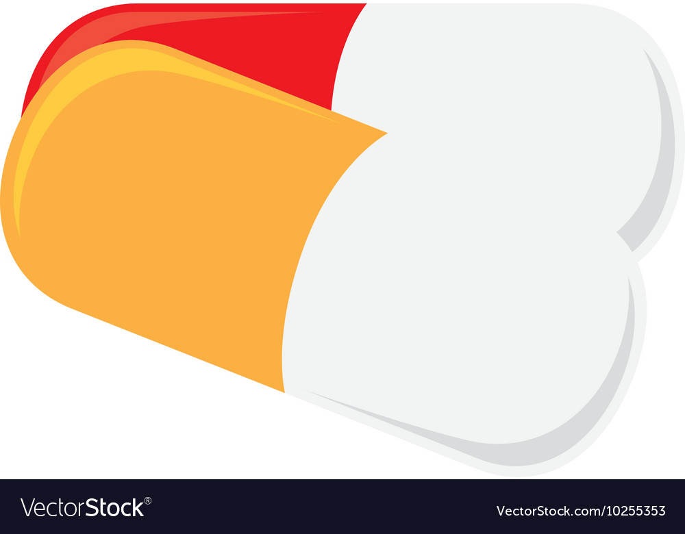 Capsule medicine drug icon vector image