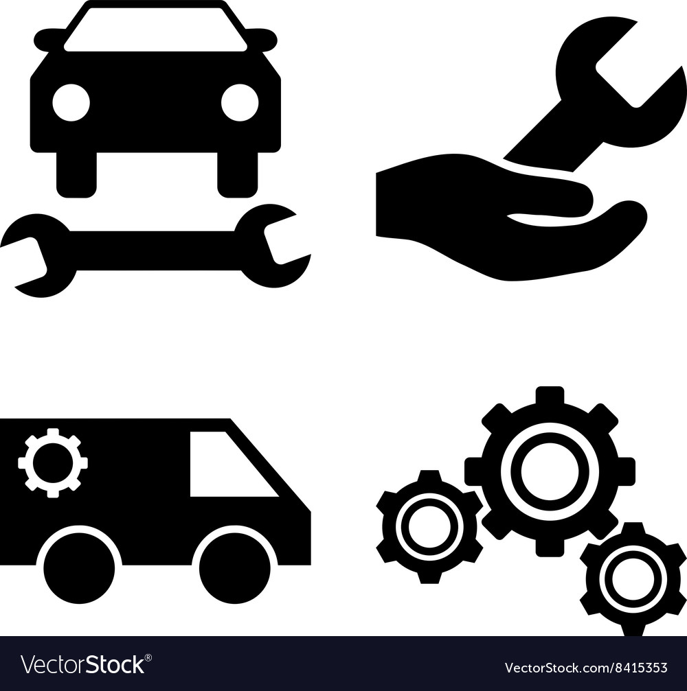 Car Service Flat Icons