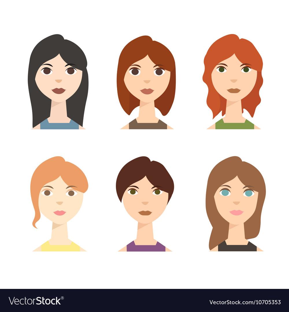 Different Woman Avatar Set