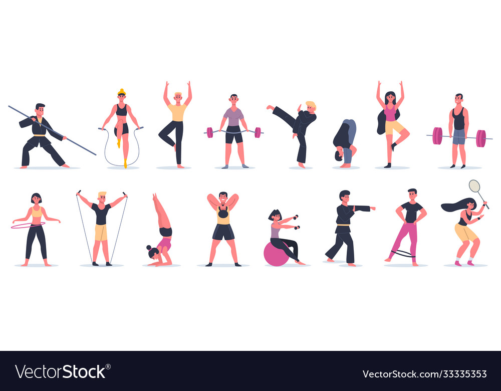 Fitness sport activities people activity training