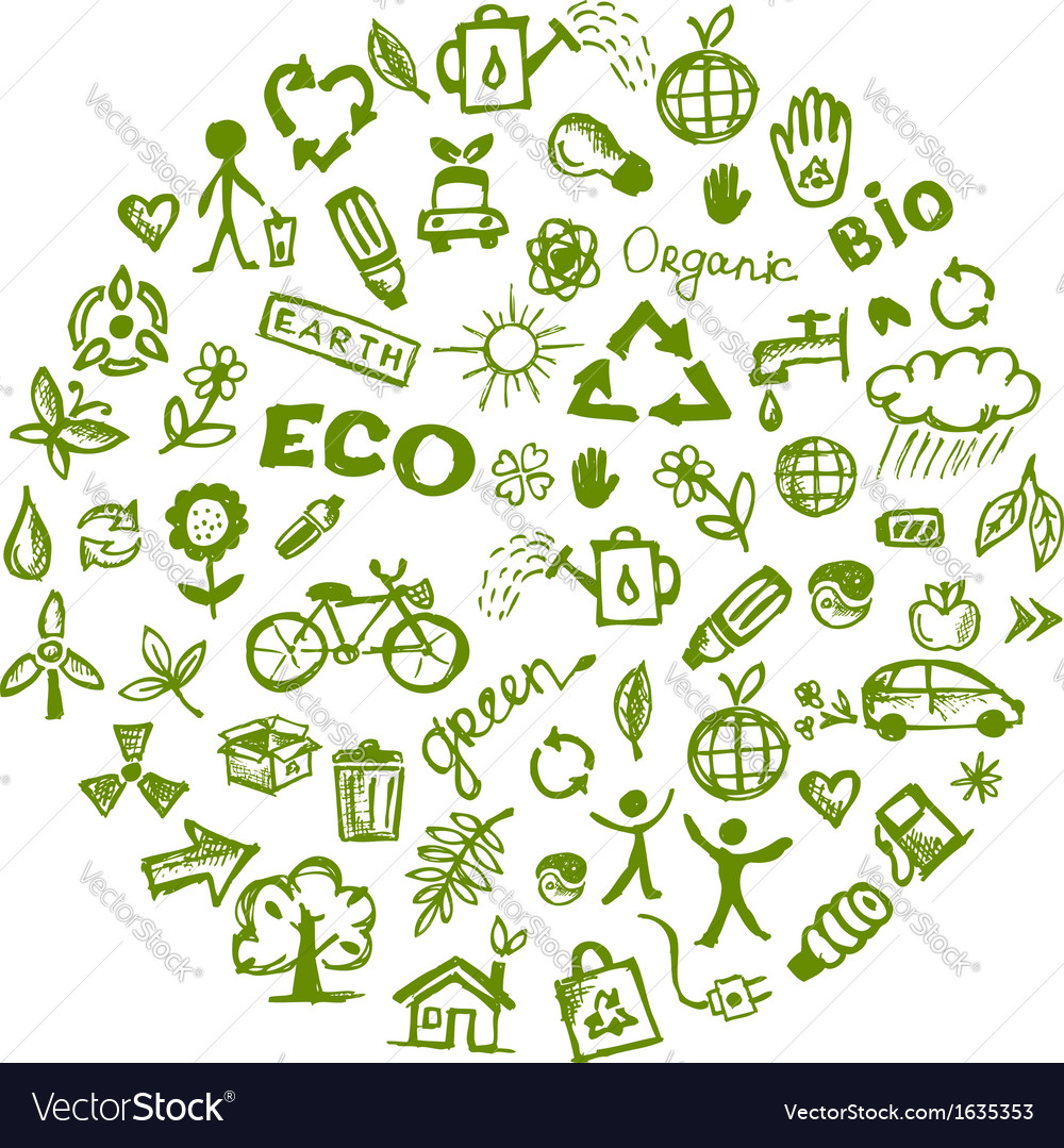 Green ecology background for your design vector image