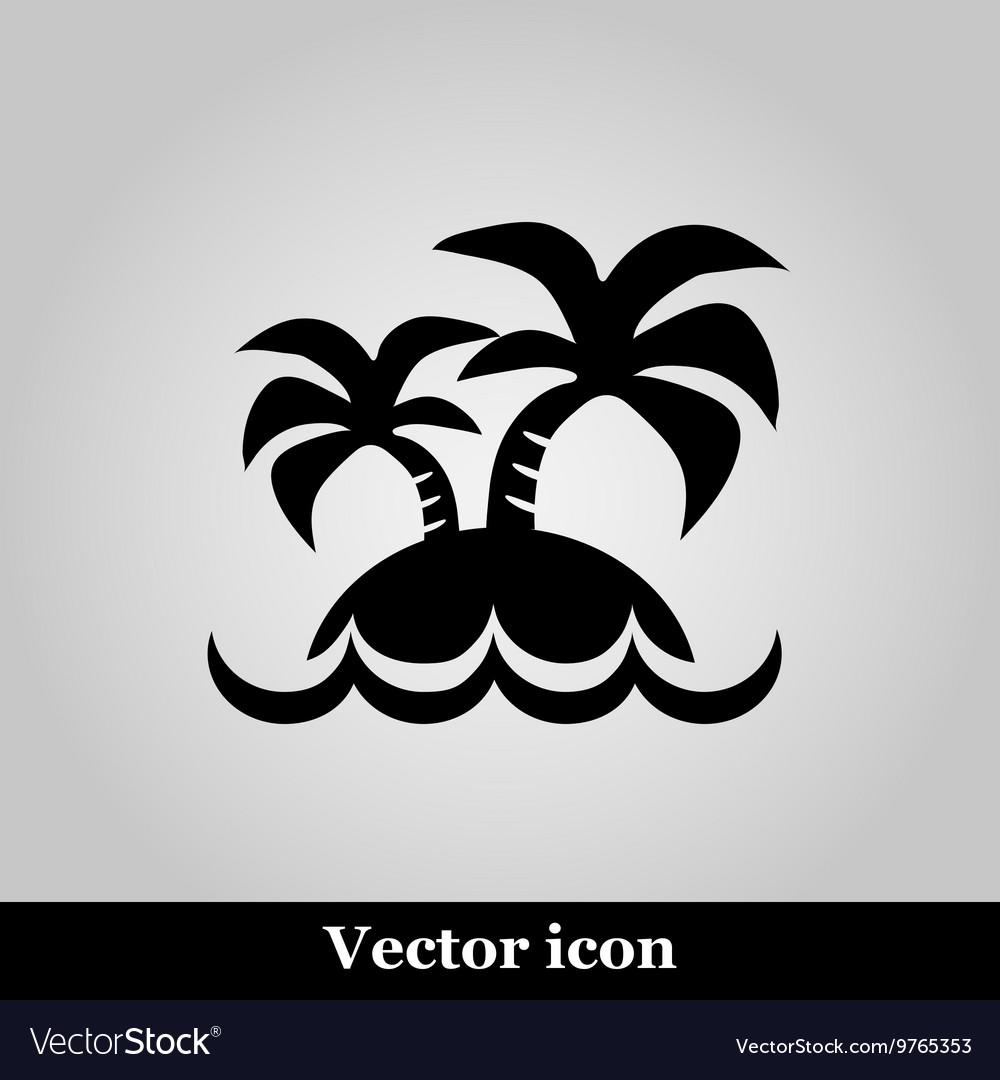 Island icon on grey background