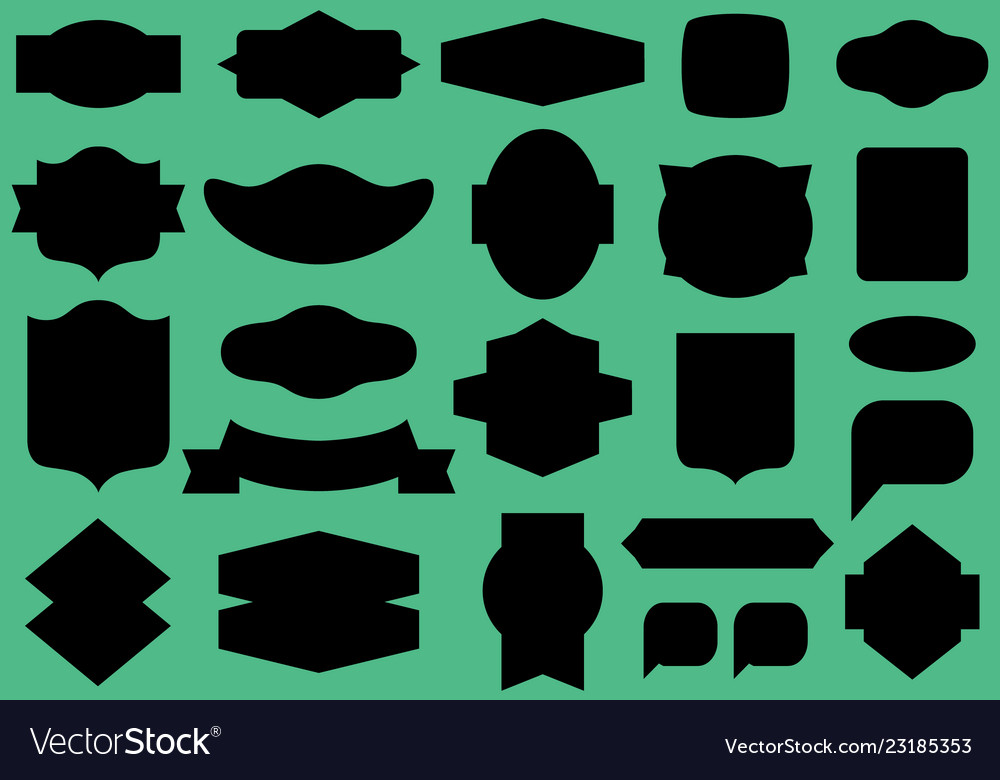 Labels and frames seamless pattern