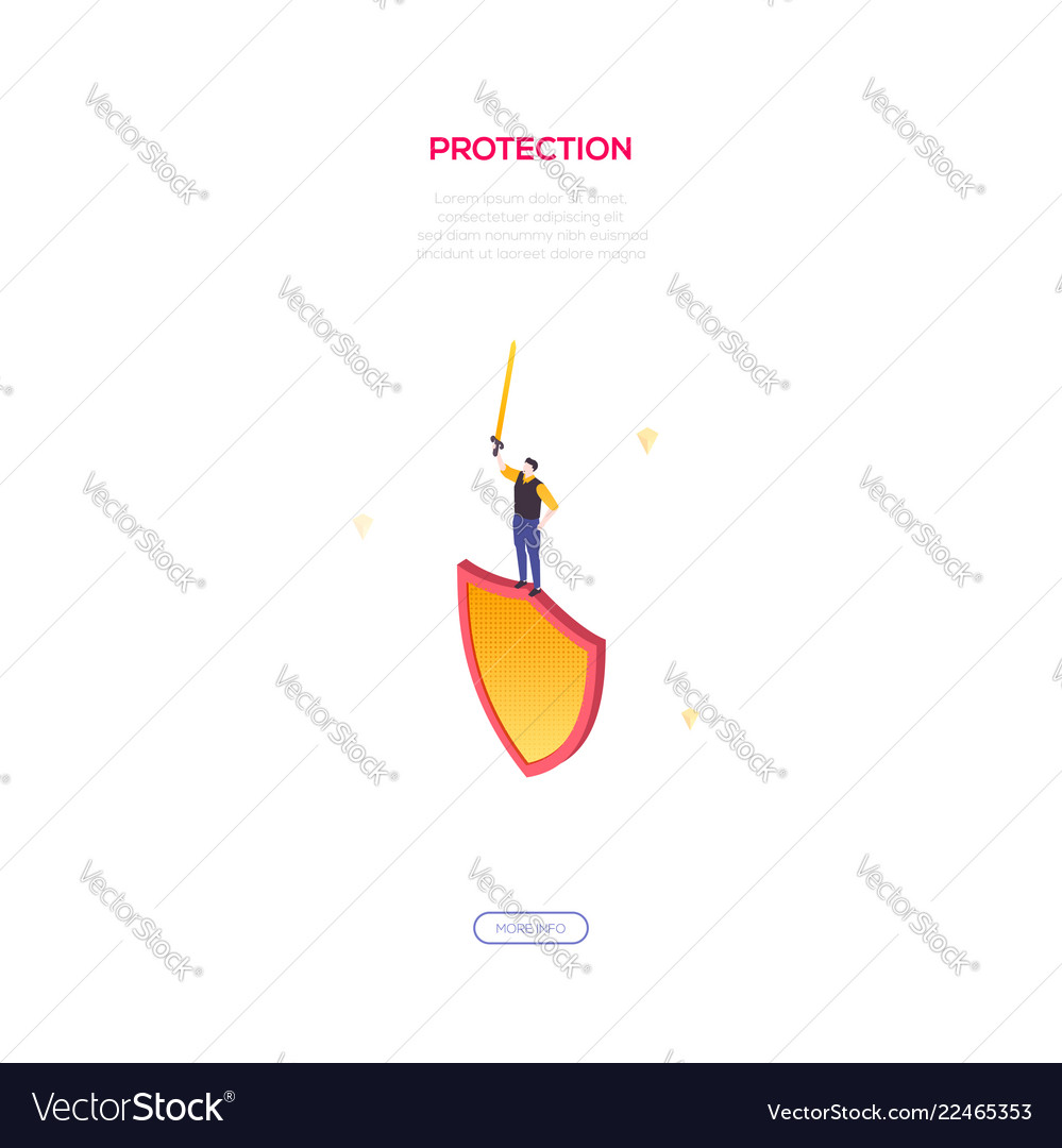 Protection and safety - modern isometric