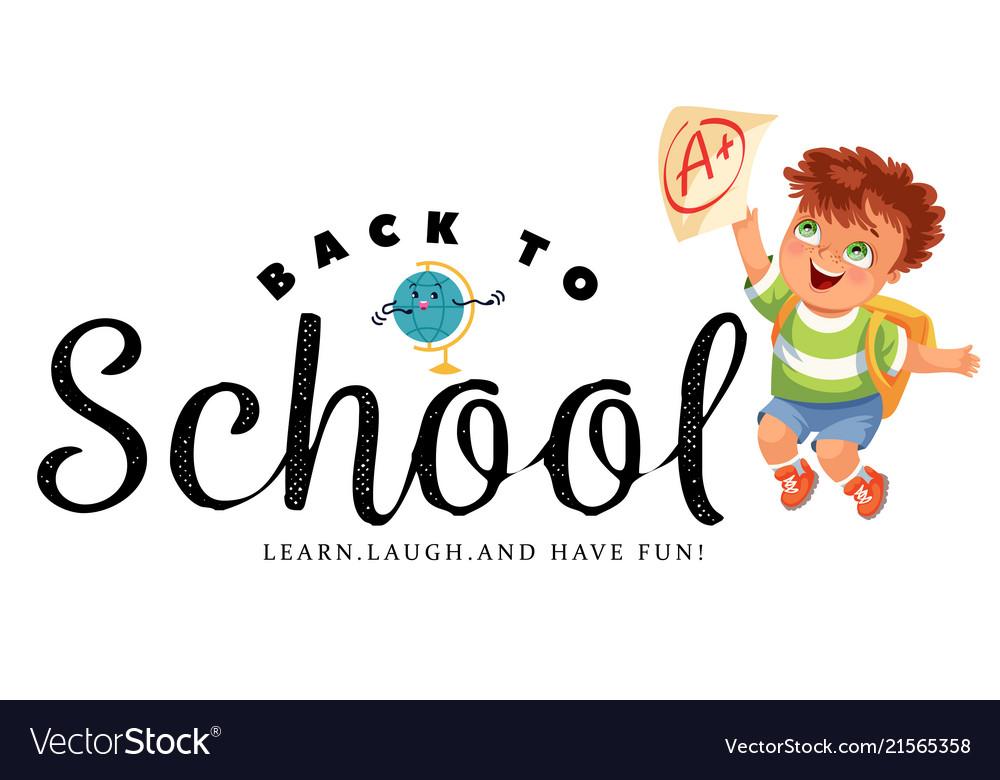 Back to school horizontal banner education