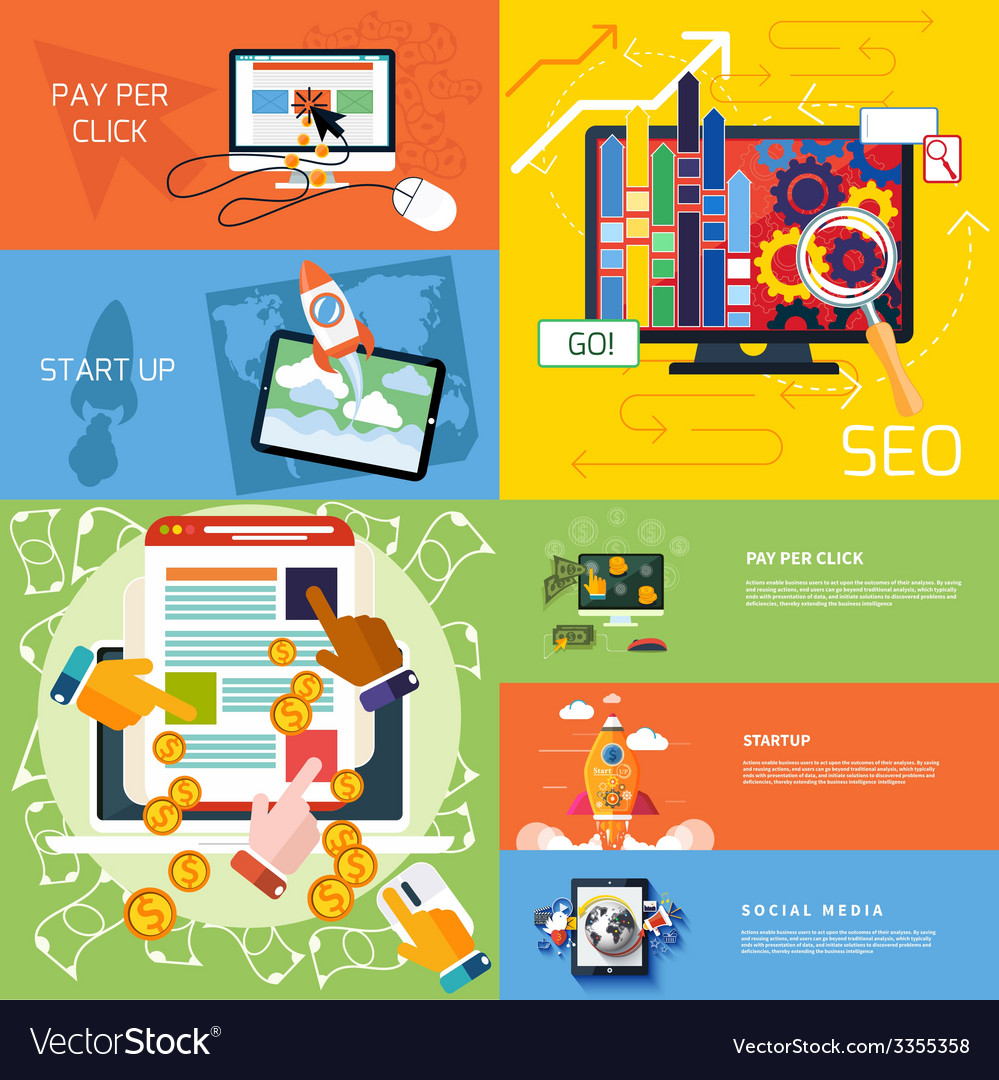 Concept of start up pay per click seo