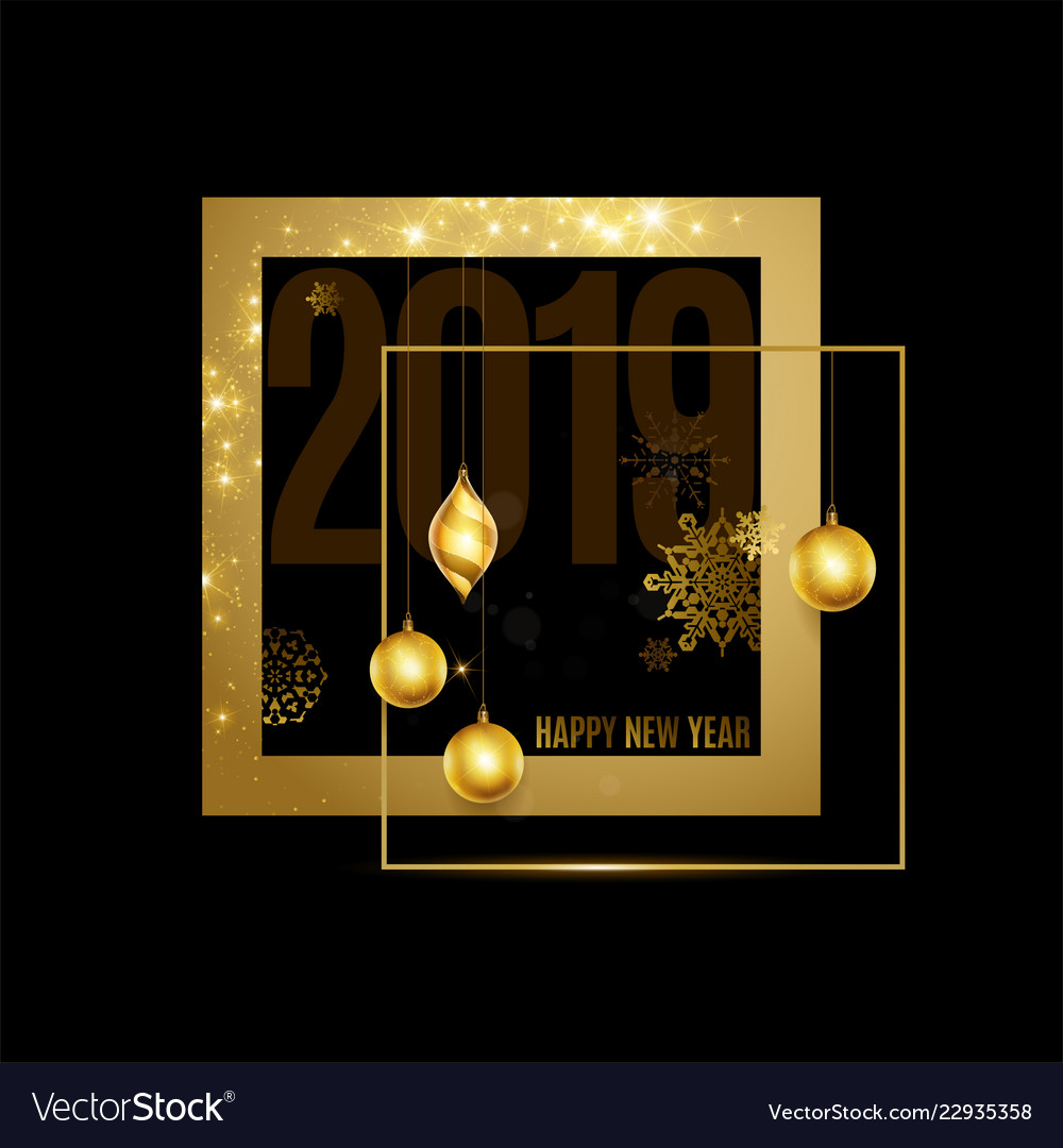Happy new year text calligraphic lettering new