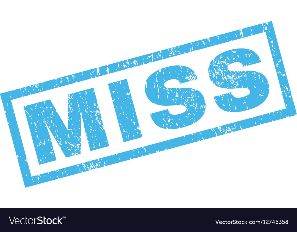 Miss Rubber Stamp vector image