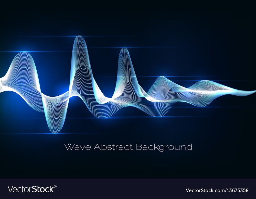 Sound wave abstract background audio waveform