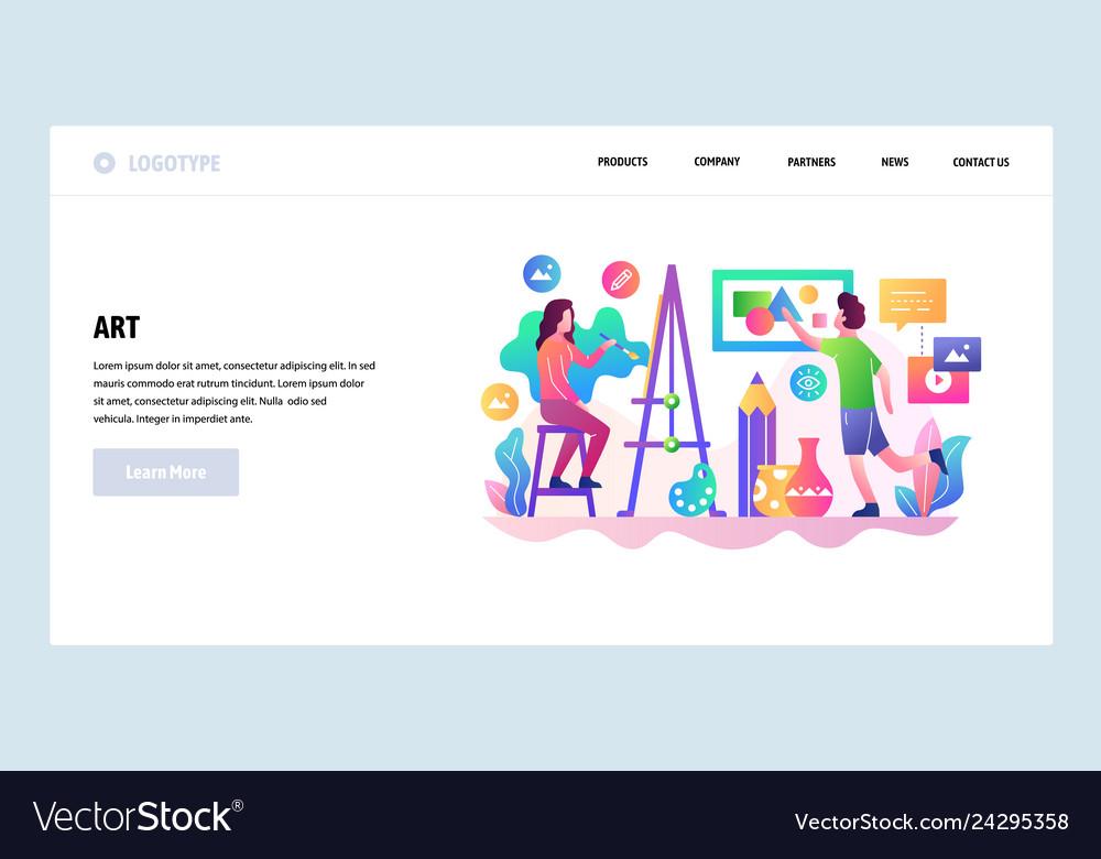 Web site design template art shcool