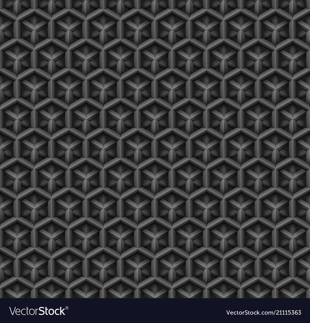 3d industrial black diamond seamless pattern