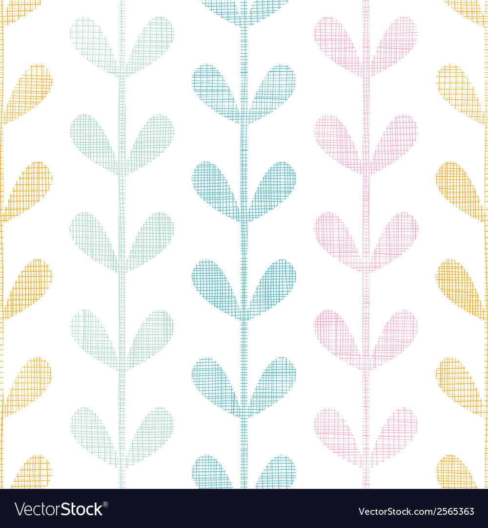 Abstract textile colorful vines leaves seamless