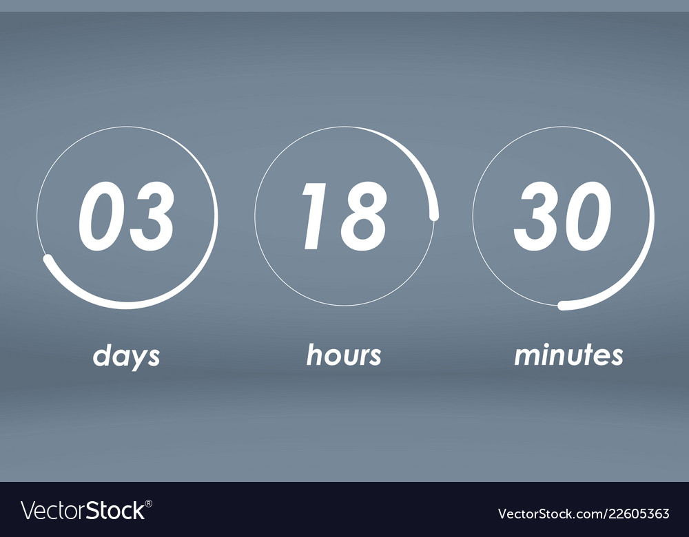 countdown web site template royalty free vector image