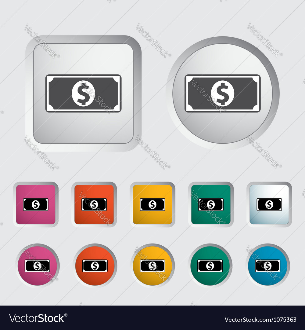 Dollar icon 2 vector image