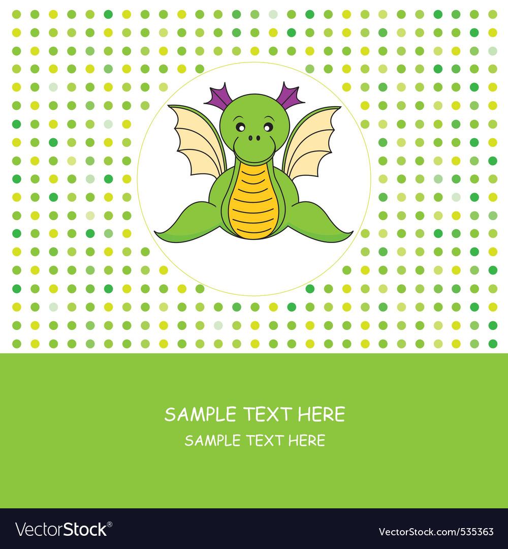 Dragon card vector image
