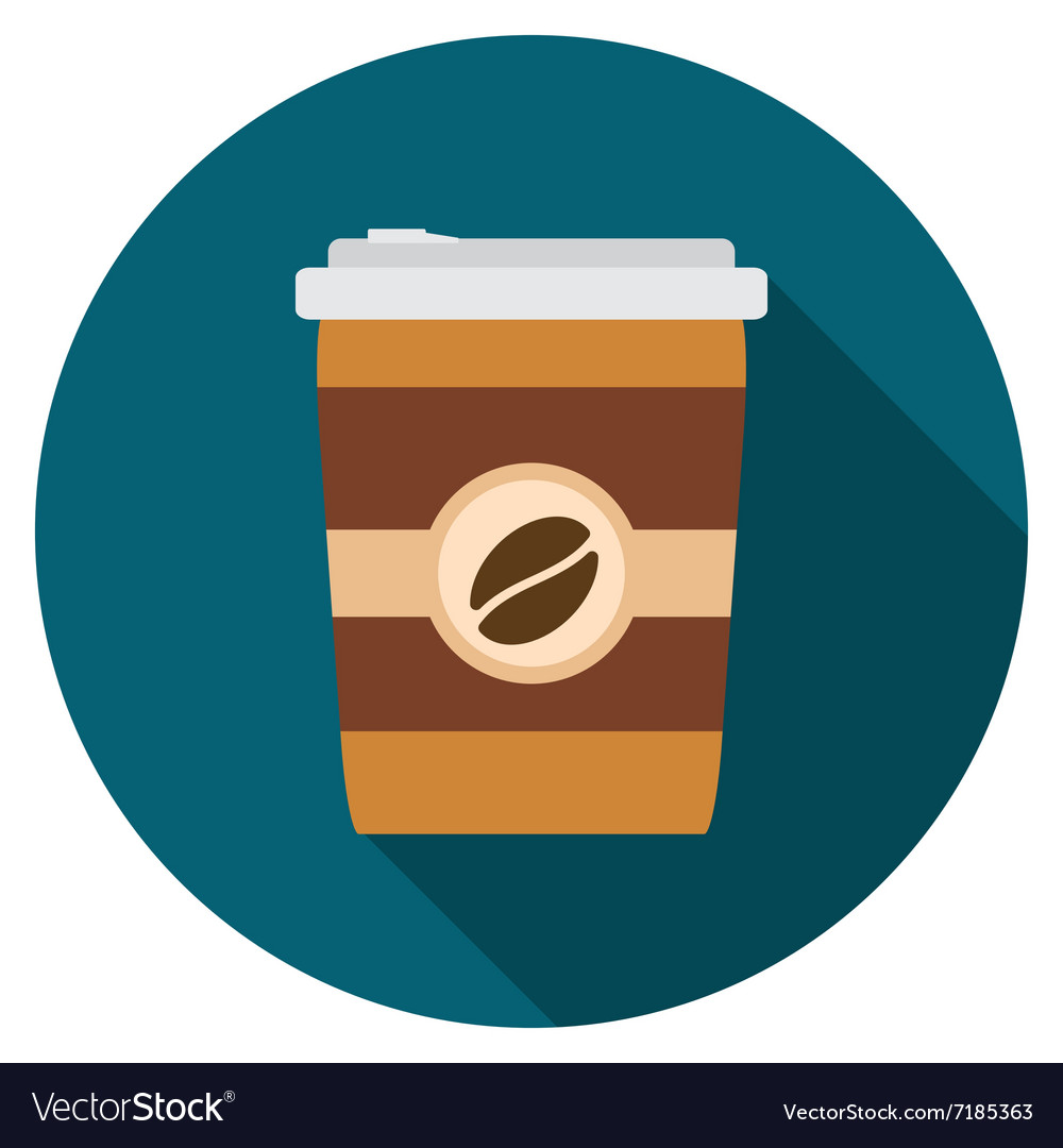 Flat design modern of coffee icon with long shadow