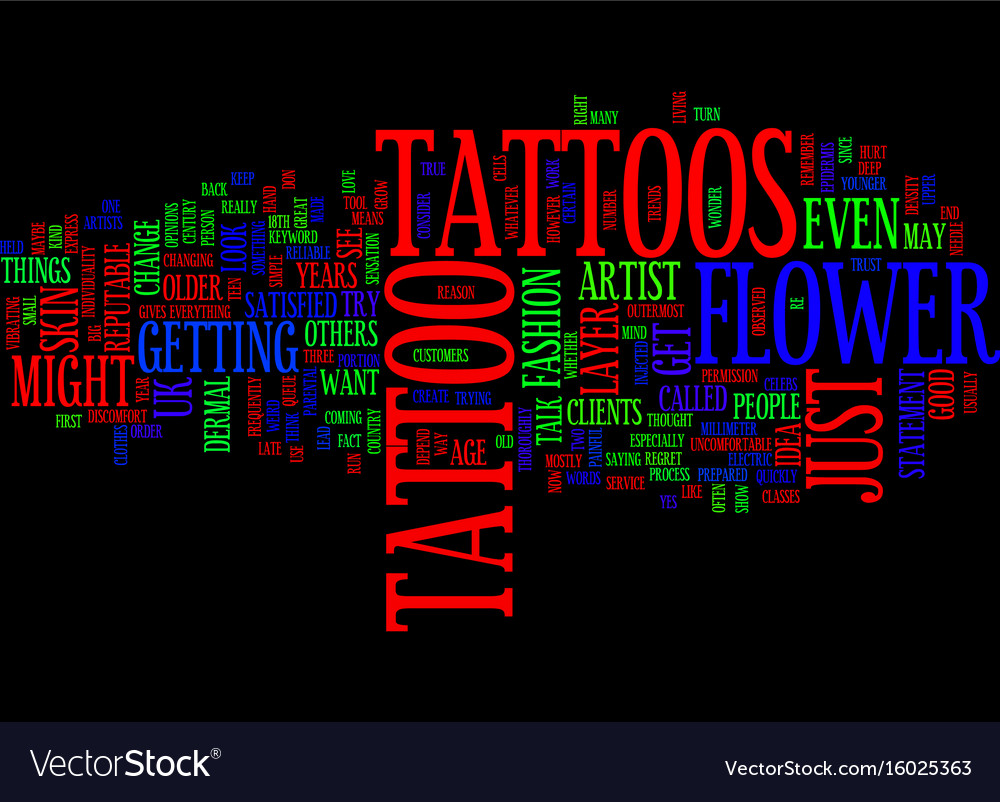 Flower tattoos what do they mean text background