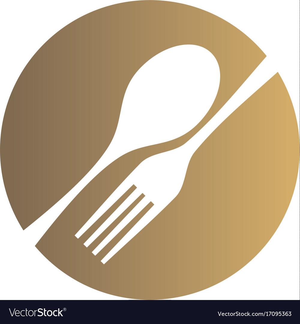 Food eat spoon fork restaurant logo vector image