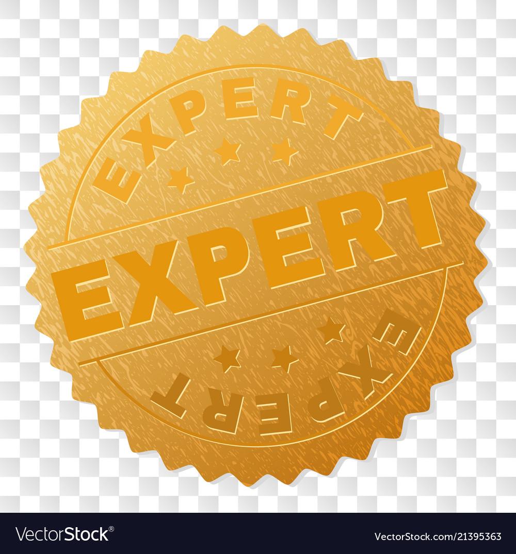 Gold expert award stamp