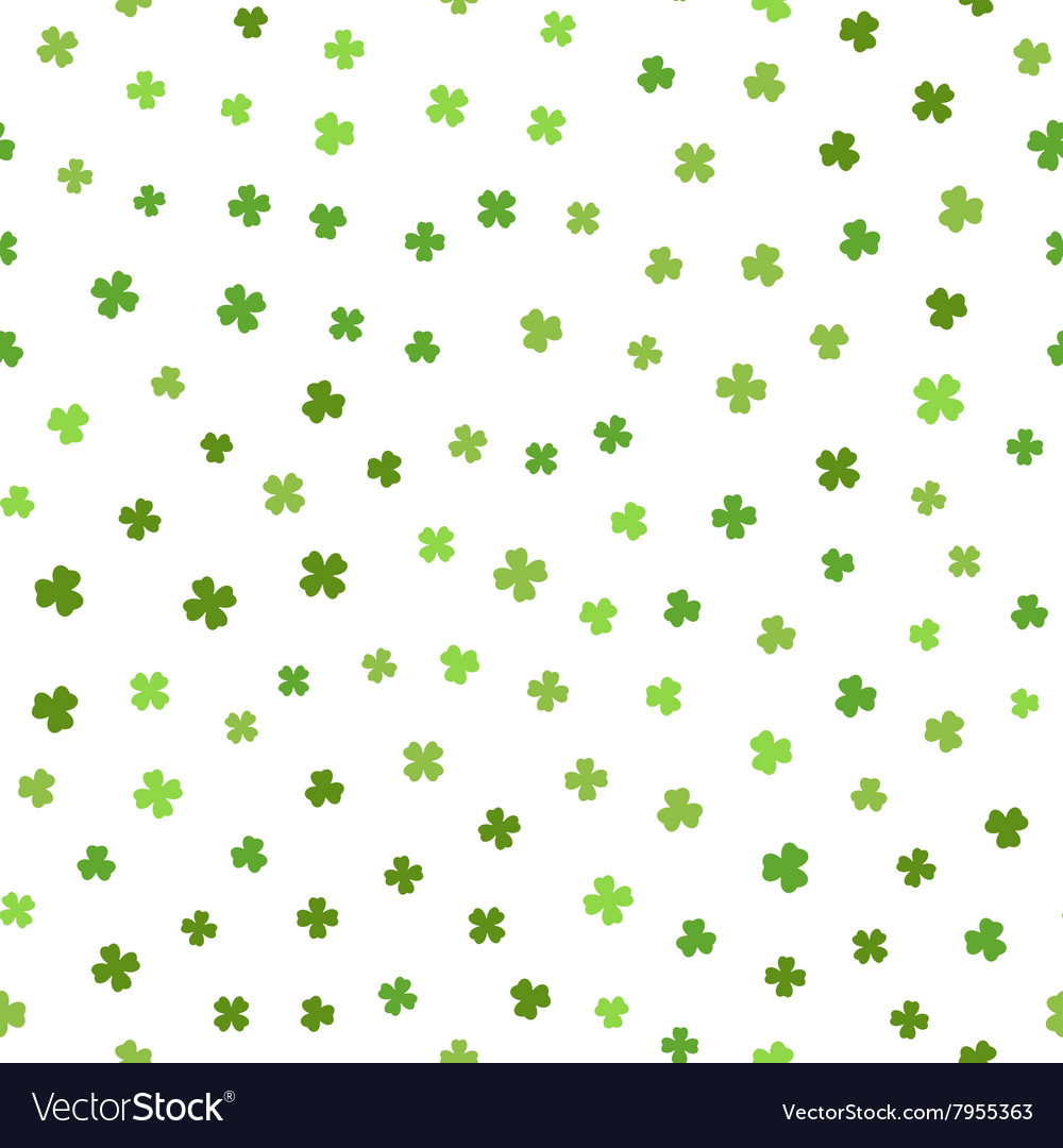 Green seamless pattern for St Patricks day vector image