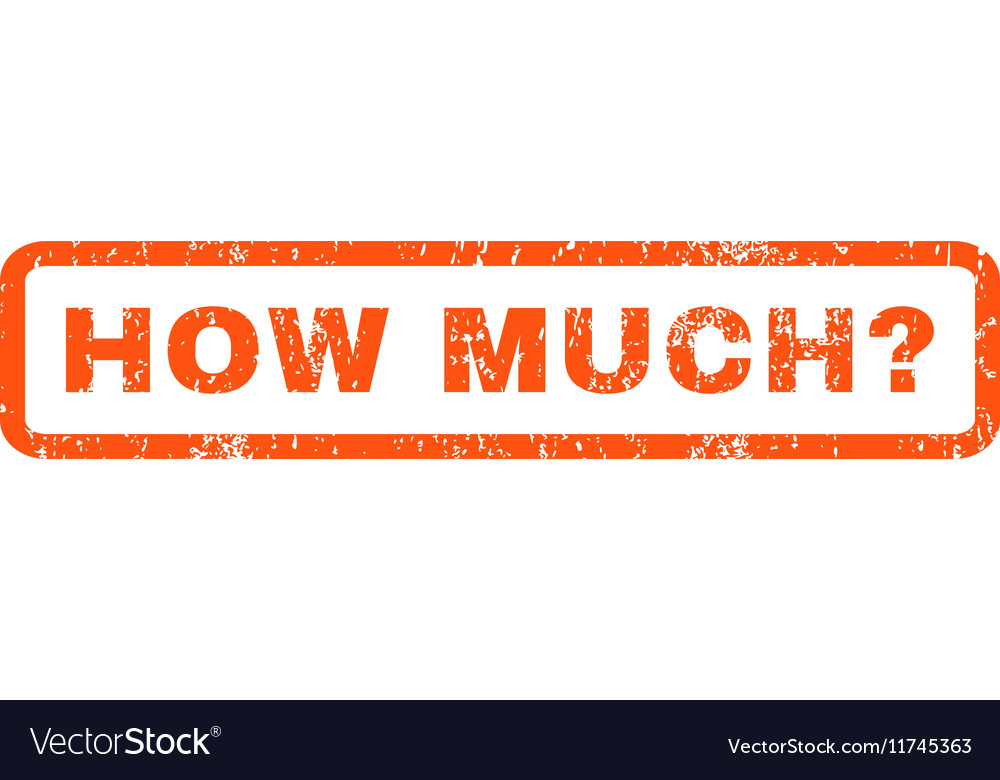 How Much Question Rubber Stamp