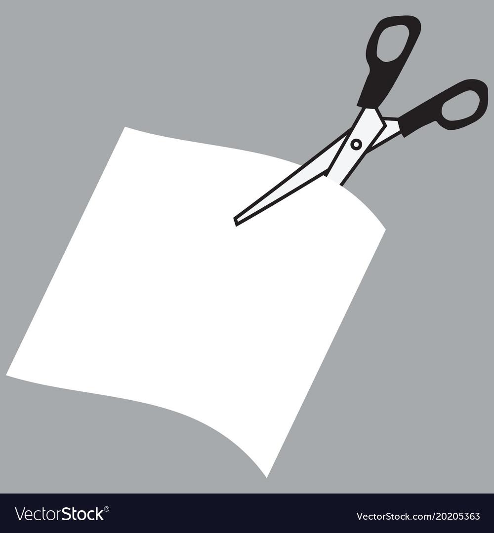 Image of scissors cutting paper