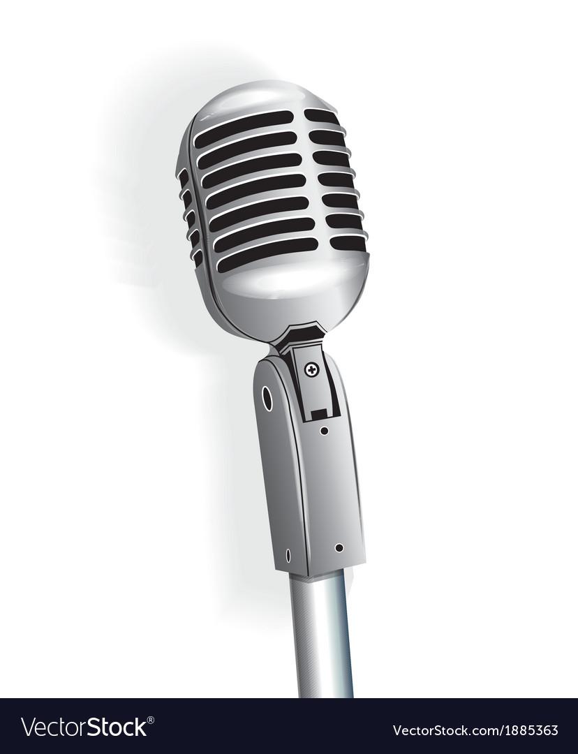 Microphone vintage metallic object vector image