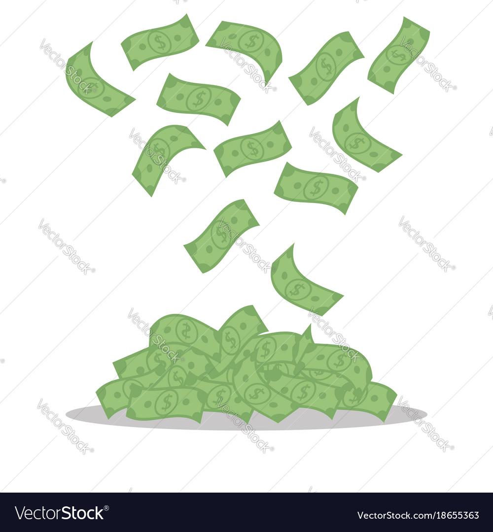 Money banknotes isolated on white background