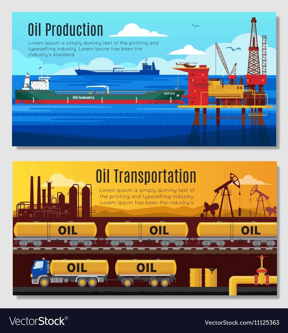 Oil Industry Horizontal Banners
