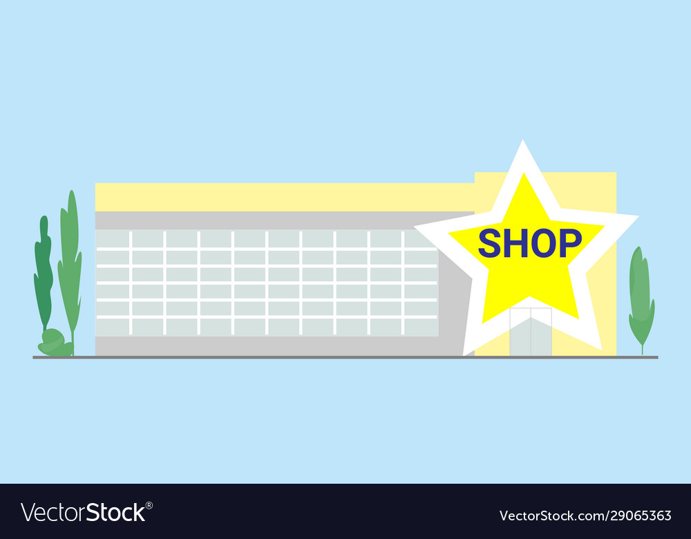 Shop facade flat building