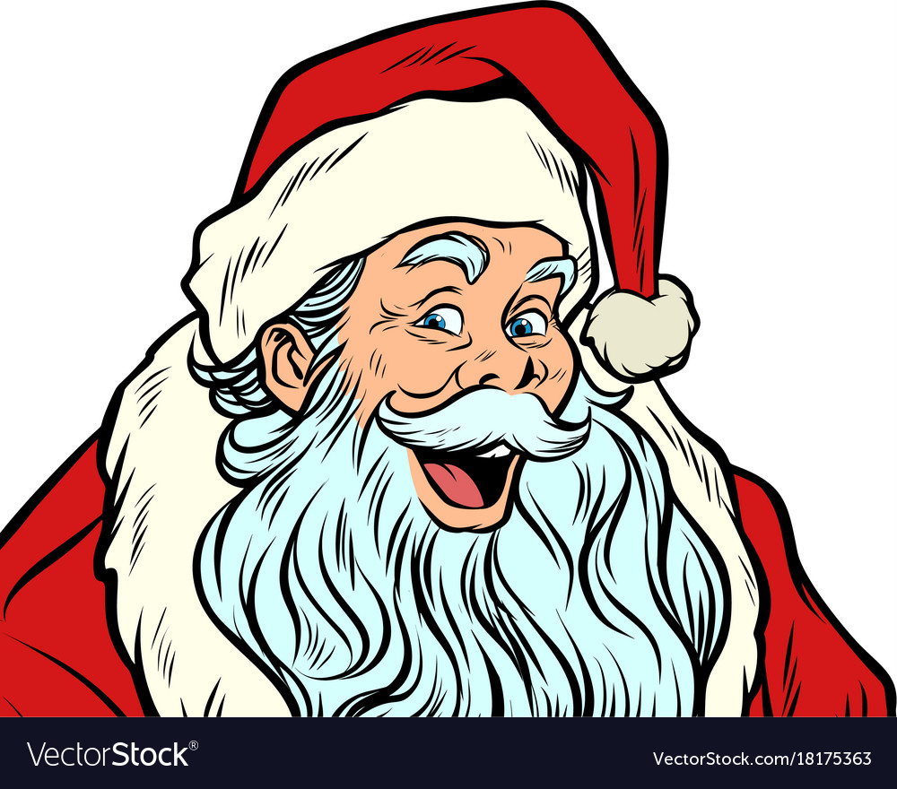 Sly santa claus isolated on white background