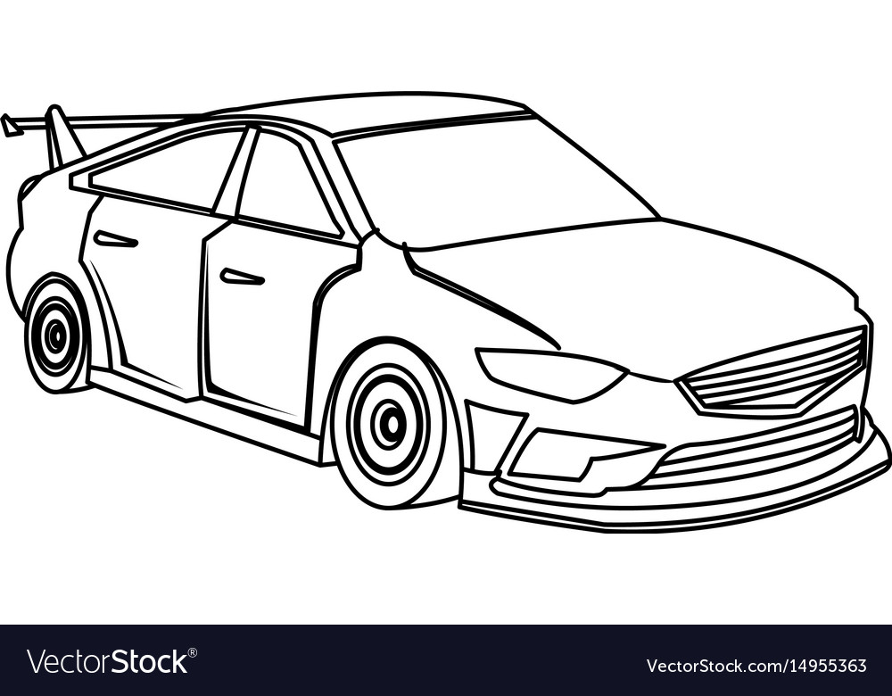 Sport Car Luxury Speed Vehicle Outline Royalty Free Vector
