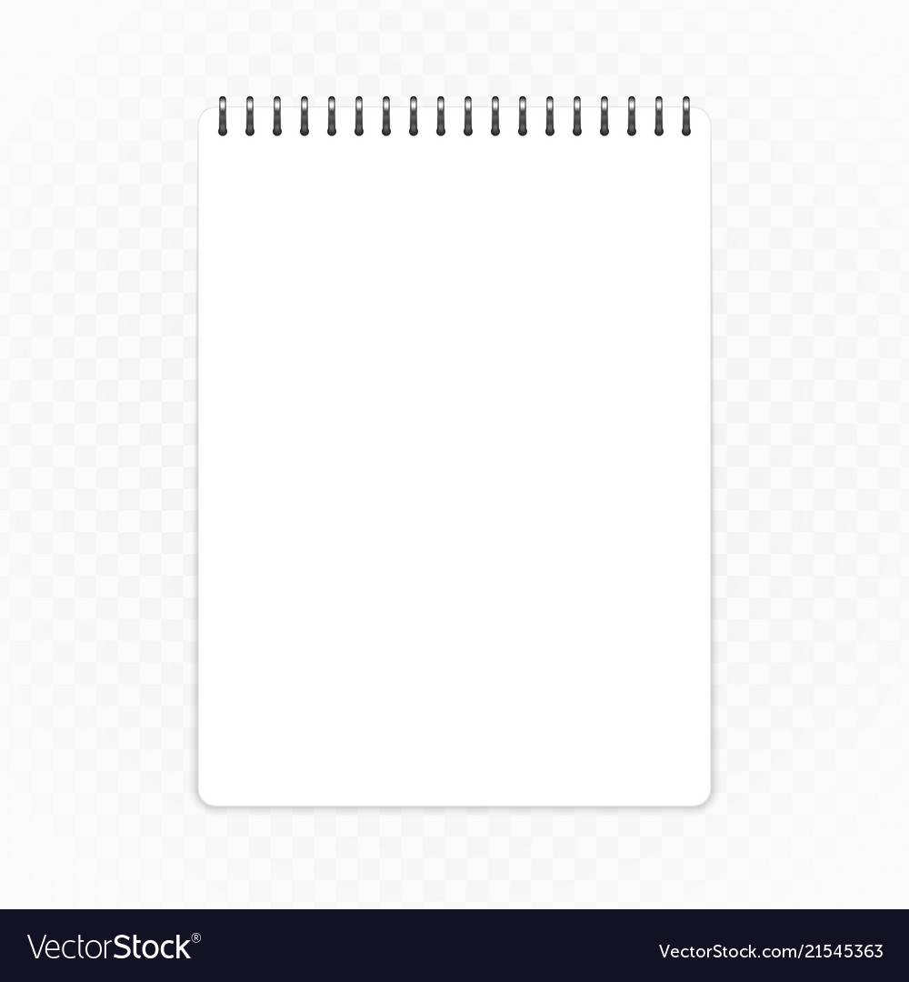 Vertical notebook template