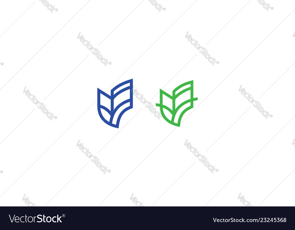 Building icon line art logo