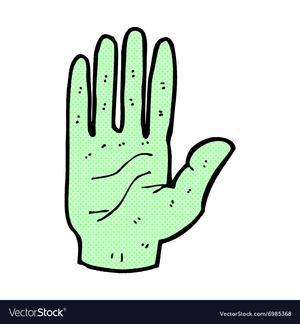 Comic cartoon zombie hand