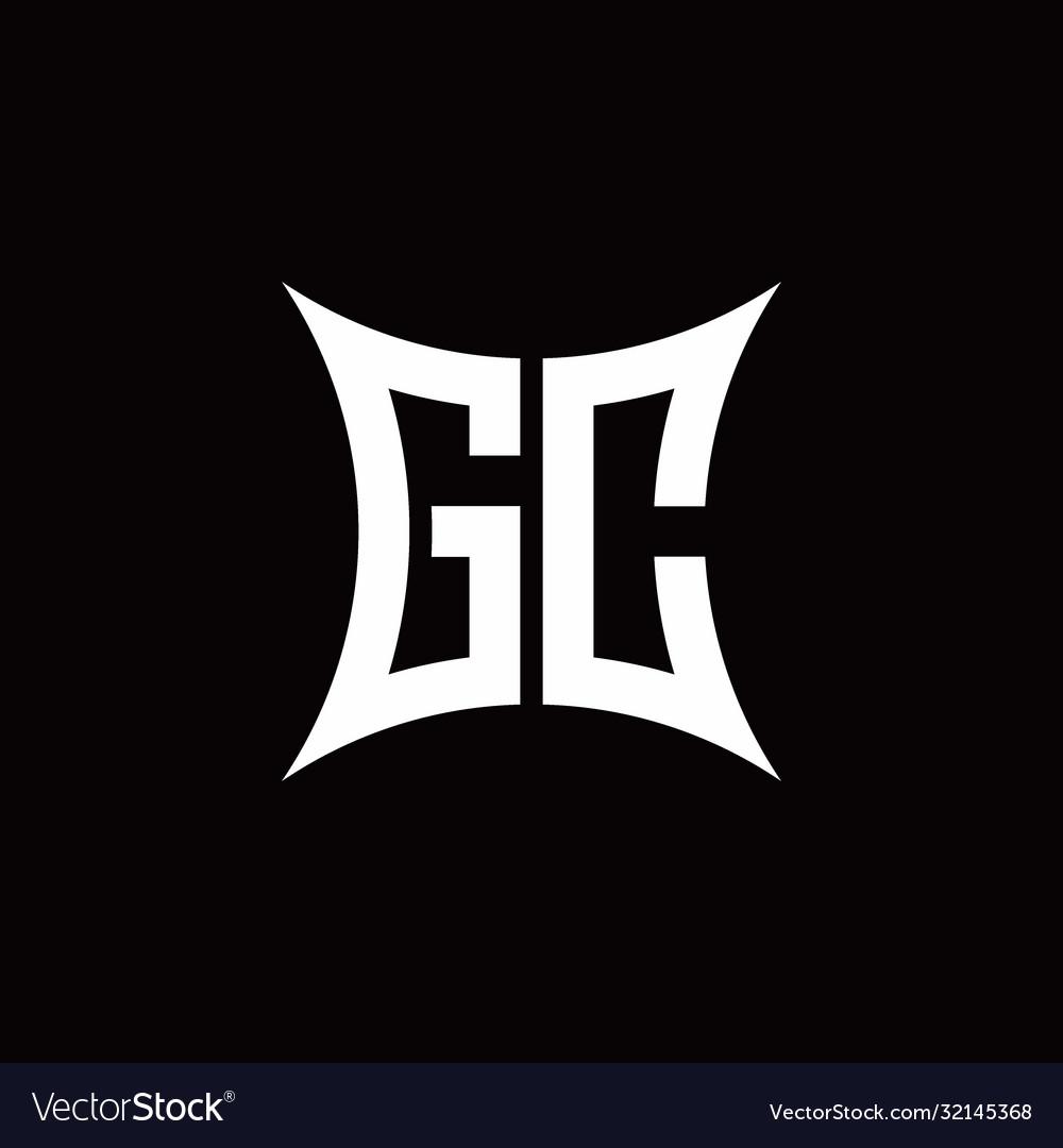 Gc monogram logo with sharped shape design