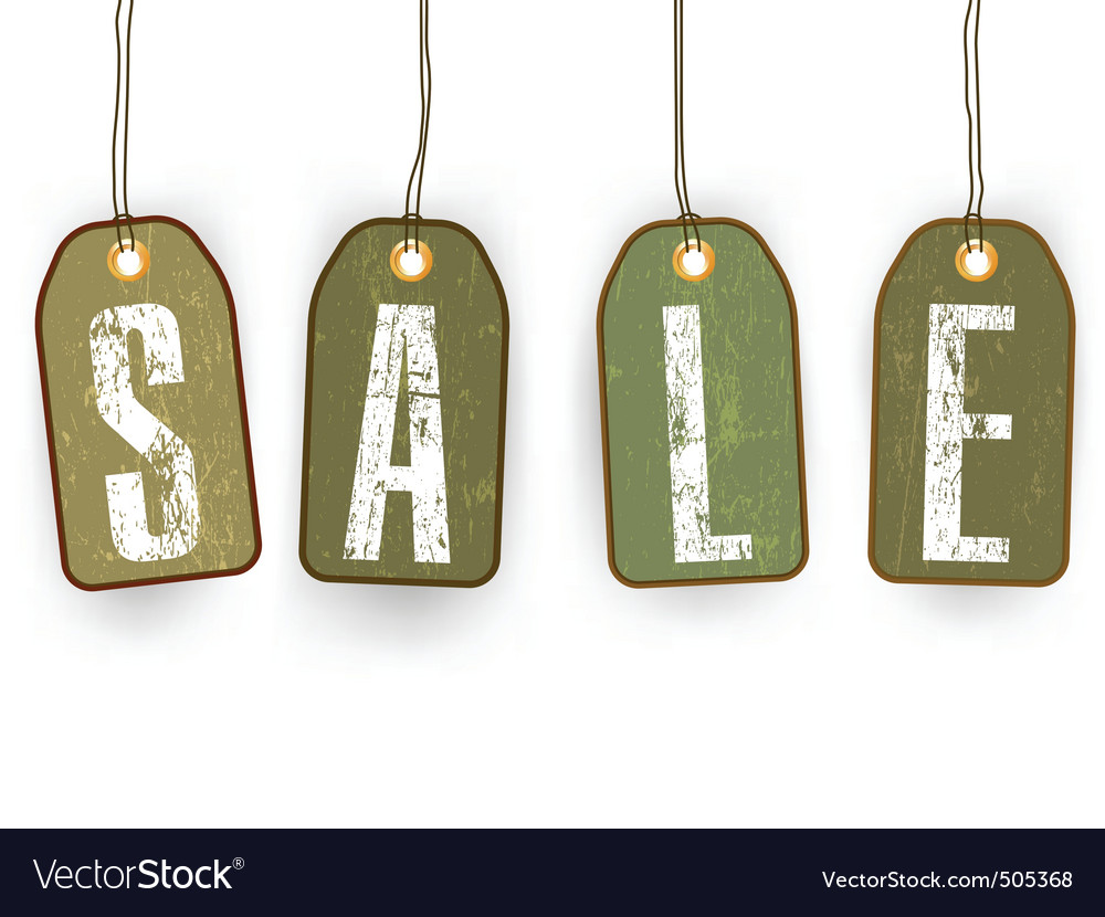 Grunge paper sale tags eps 8