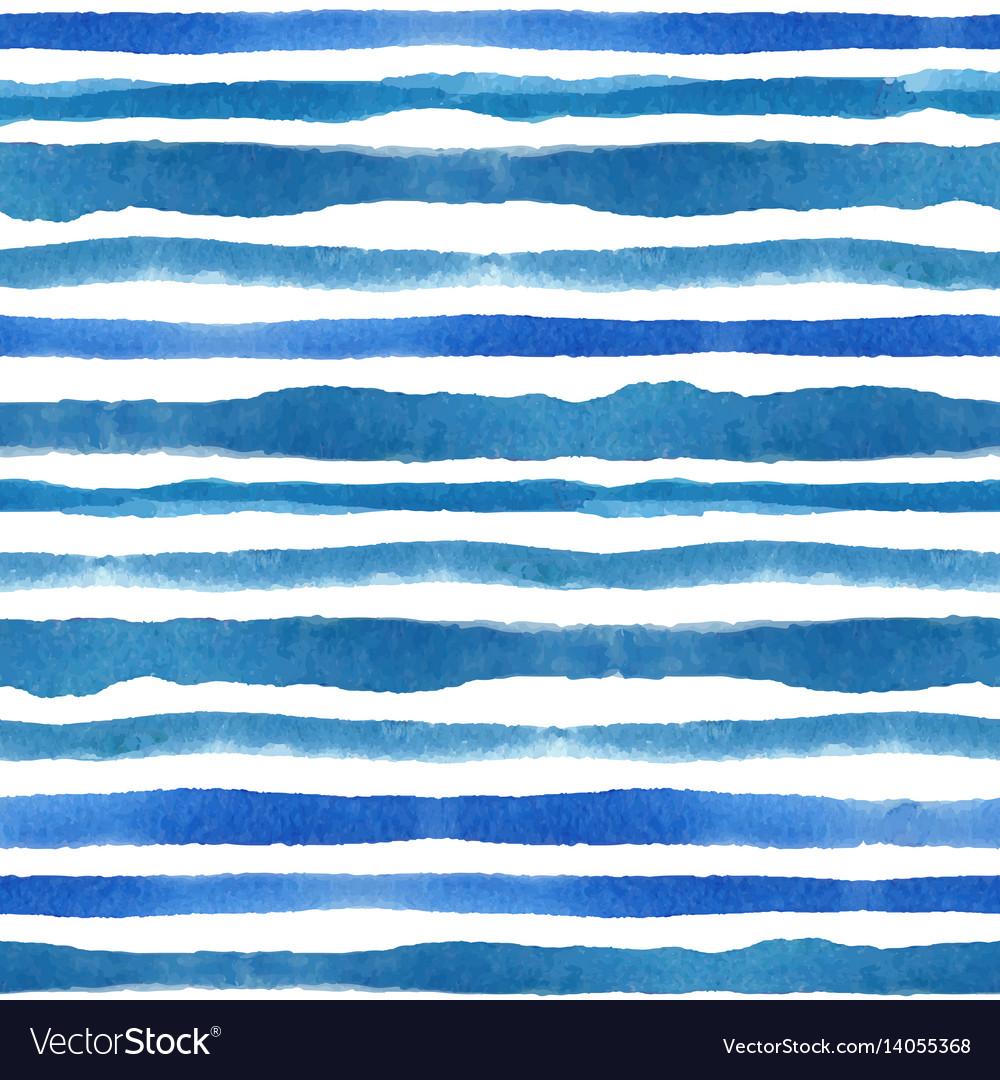 Watercolor strips seamless pattern setblue cyan