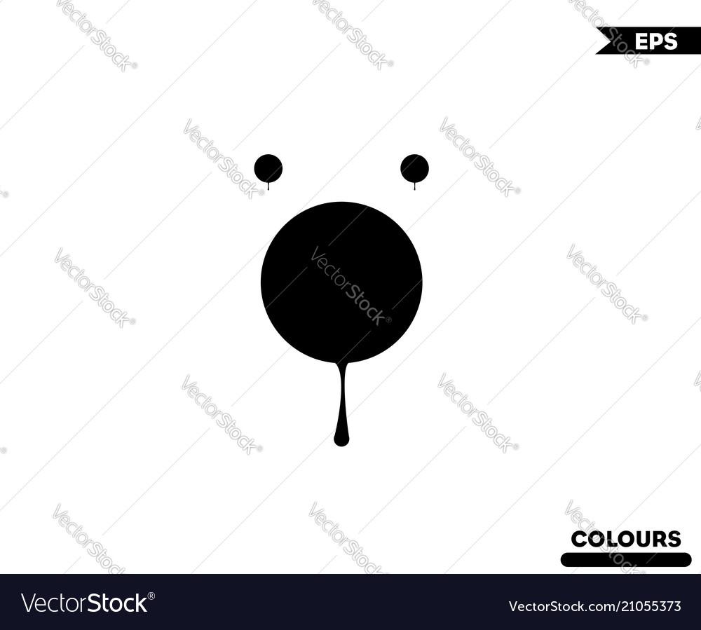 Cute animal face logo vector image