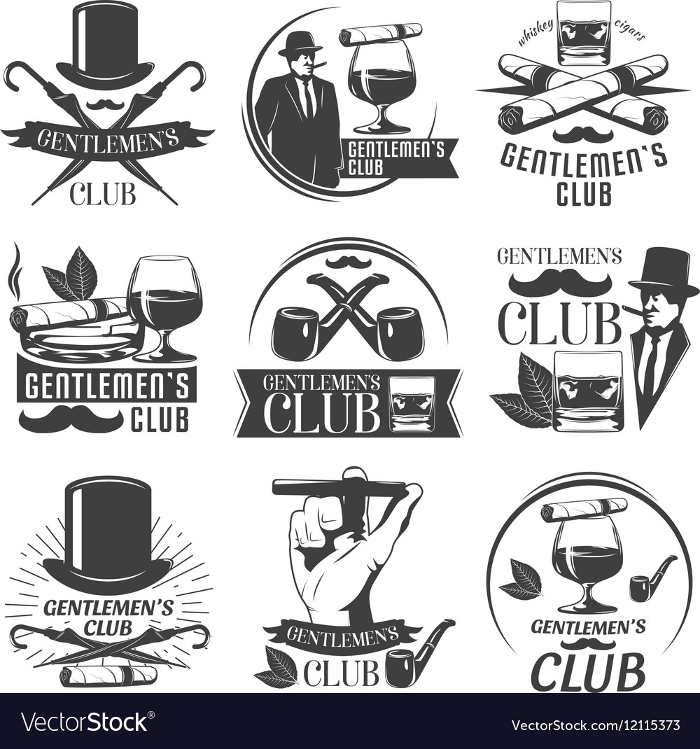 Gentlemen Club Label Set