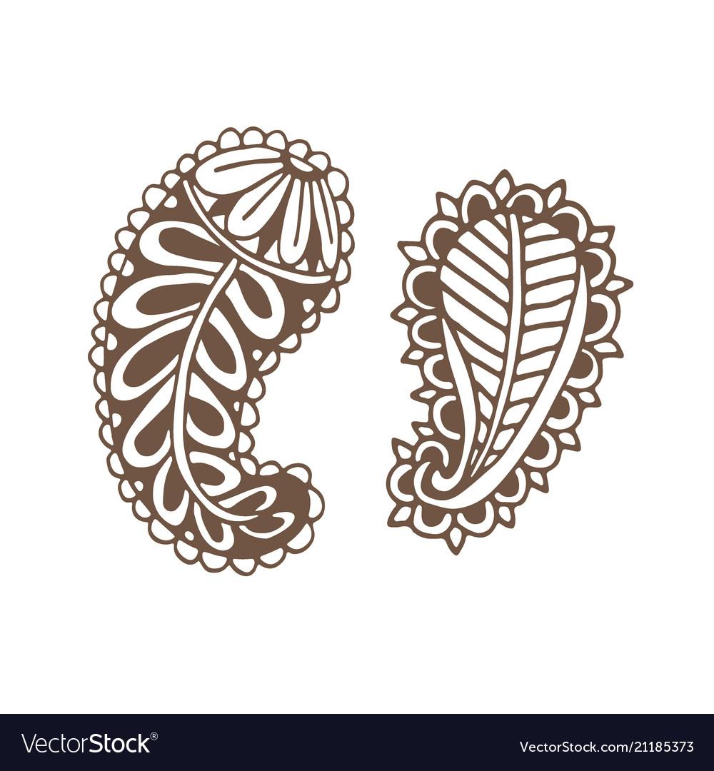 Paislay tattoo design ornamental printed design