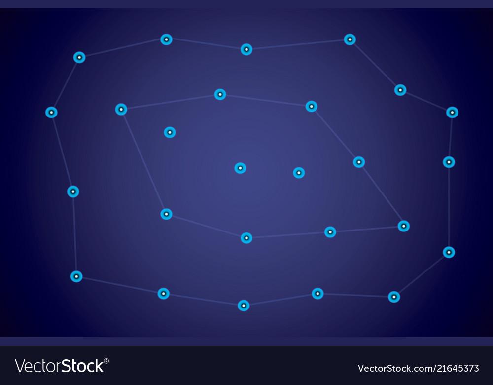 Starry sky map random schematic bright stars