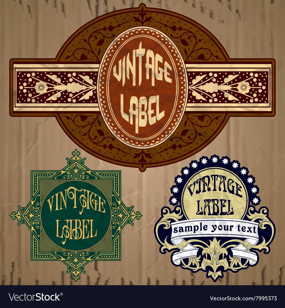 Vintage items - label