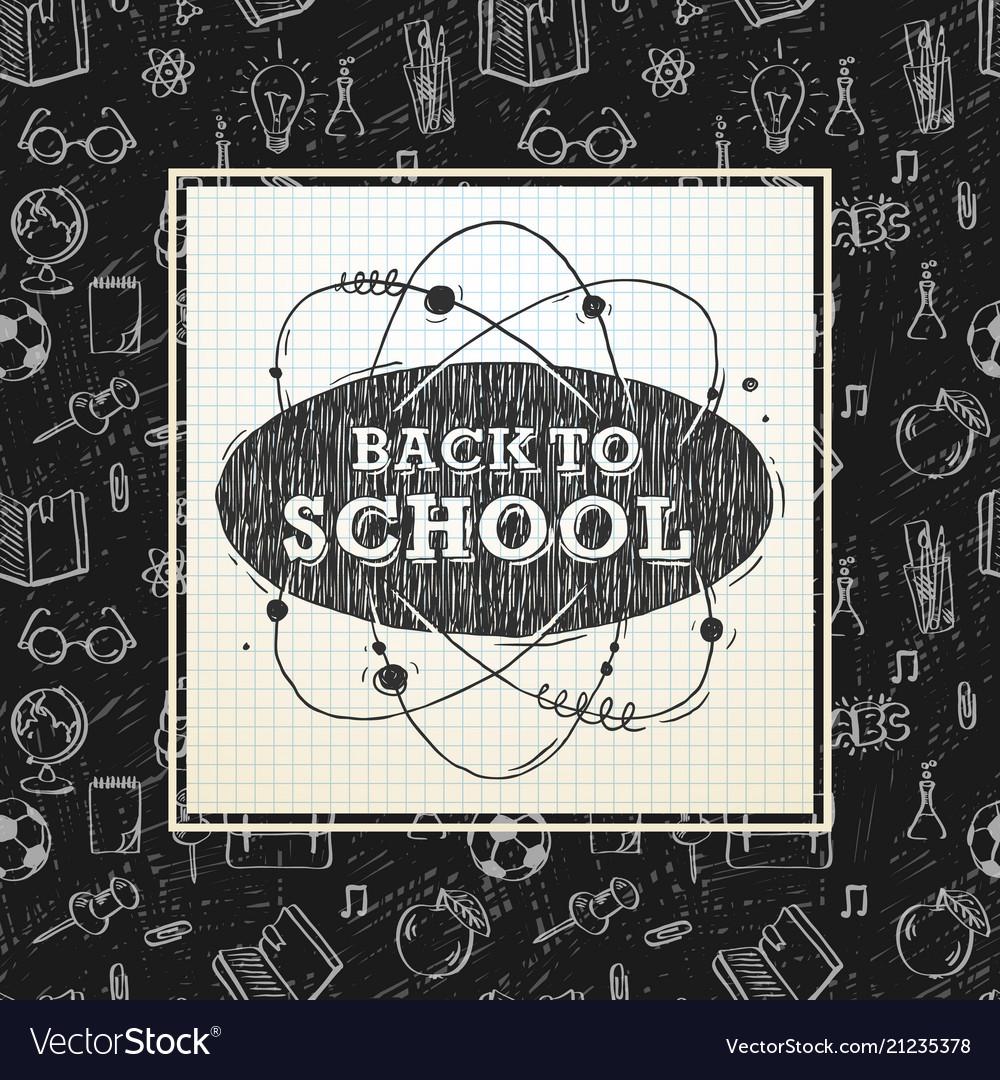 Back to school poster sketchy notebook doodles