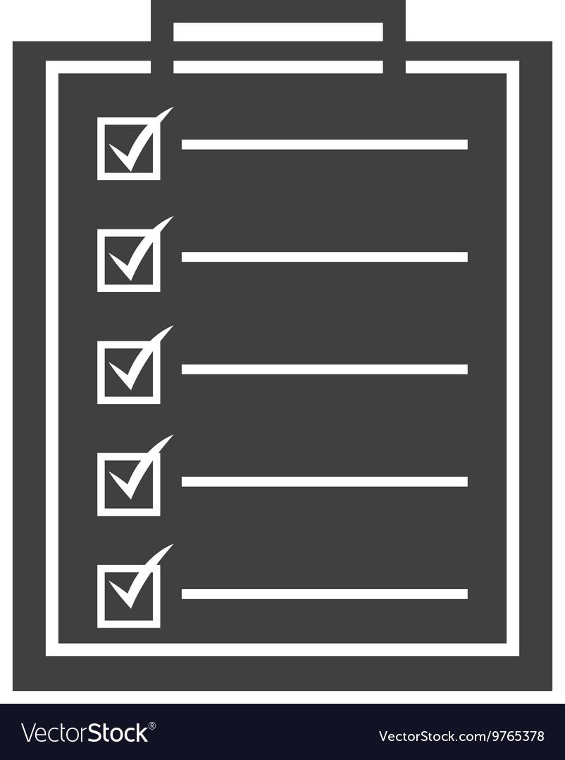 Checklist isolated icon design