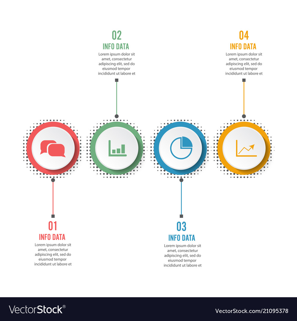 Circle infographic template four option process
