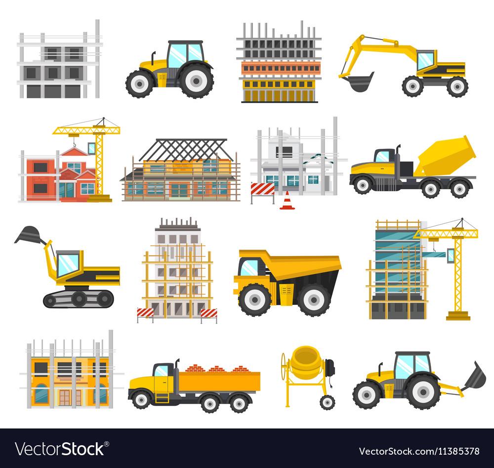Construction Flat Elements Set
