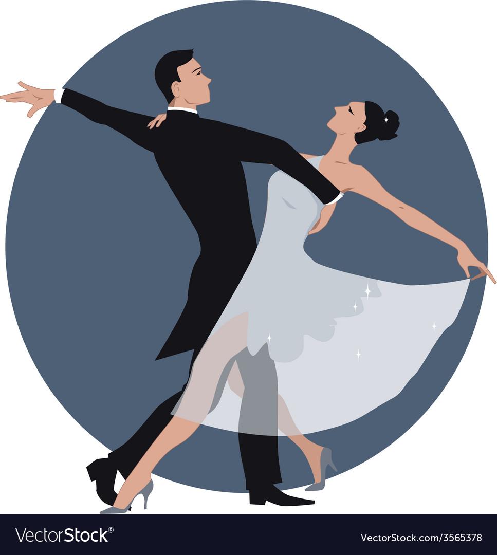 Couple dancing waltz