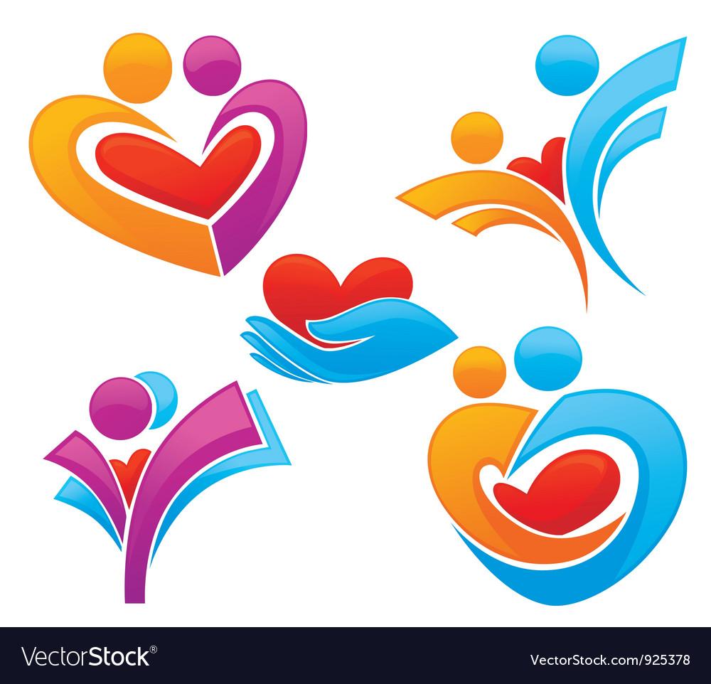 Family and love symbols