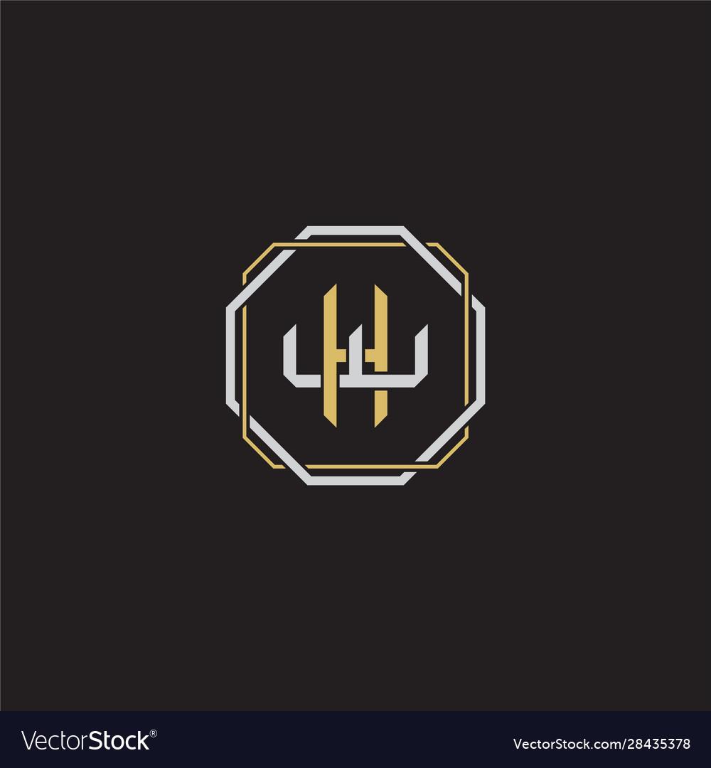 Initial letter overlapping interlock logo